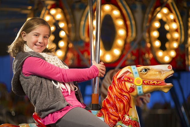 Take a spin on our Christmas Carousel